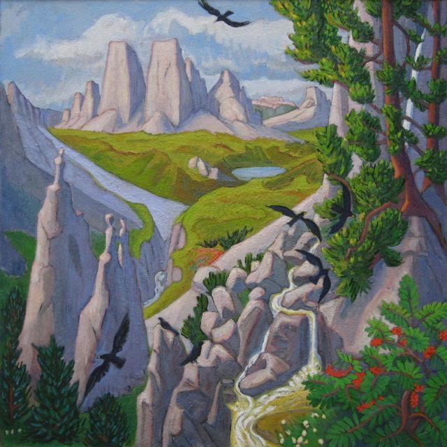 Tryptique - panneau central - Les trois cimes du Lavaredo