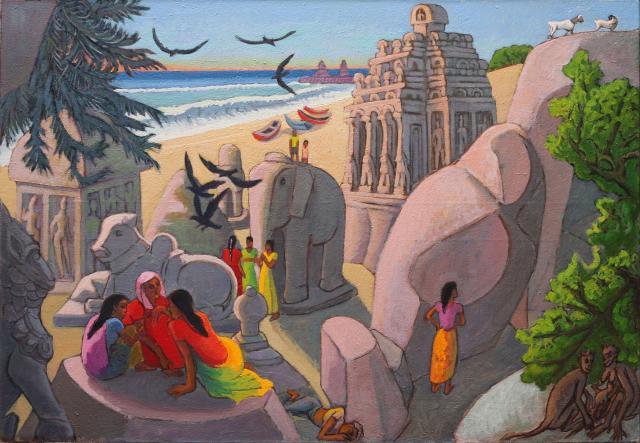 Les Rathas de Mahabalipuram