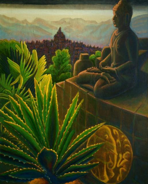 Borobudur - Un bouddha